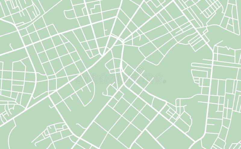 Mapa de ruas da cidade ilustração do vetor