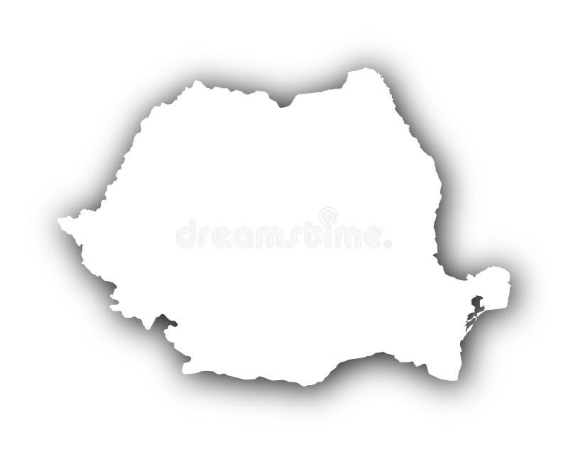 Mapa de Rumania con la sombra libre illustration