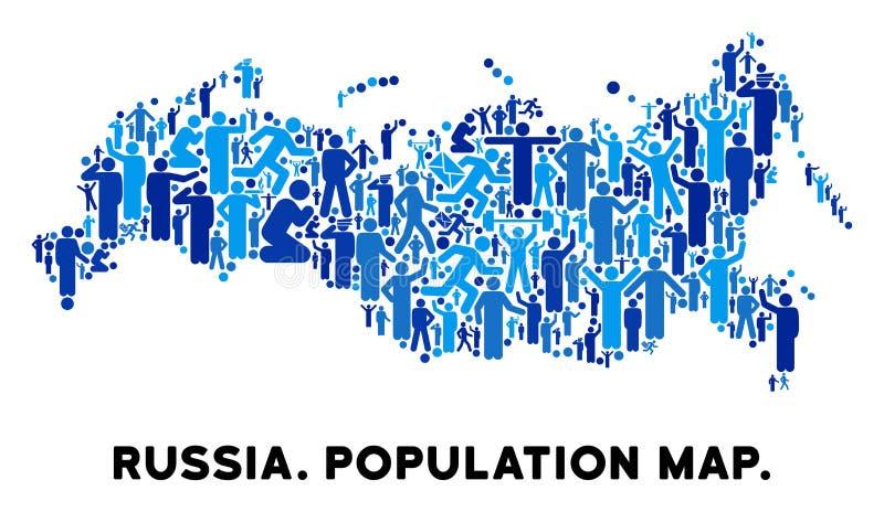 Mapa de Rusia del Demographics stock de ilustración