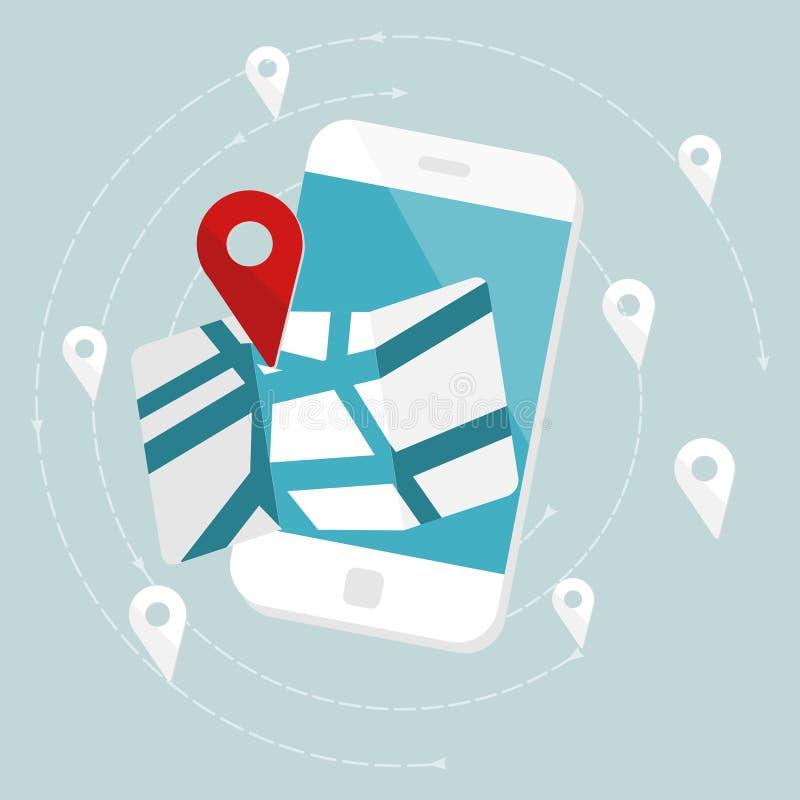 Mapa de ruta libre illustration
