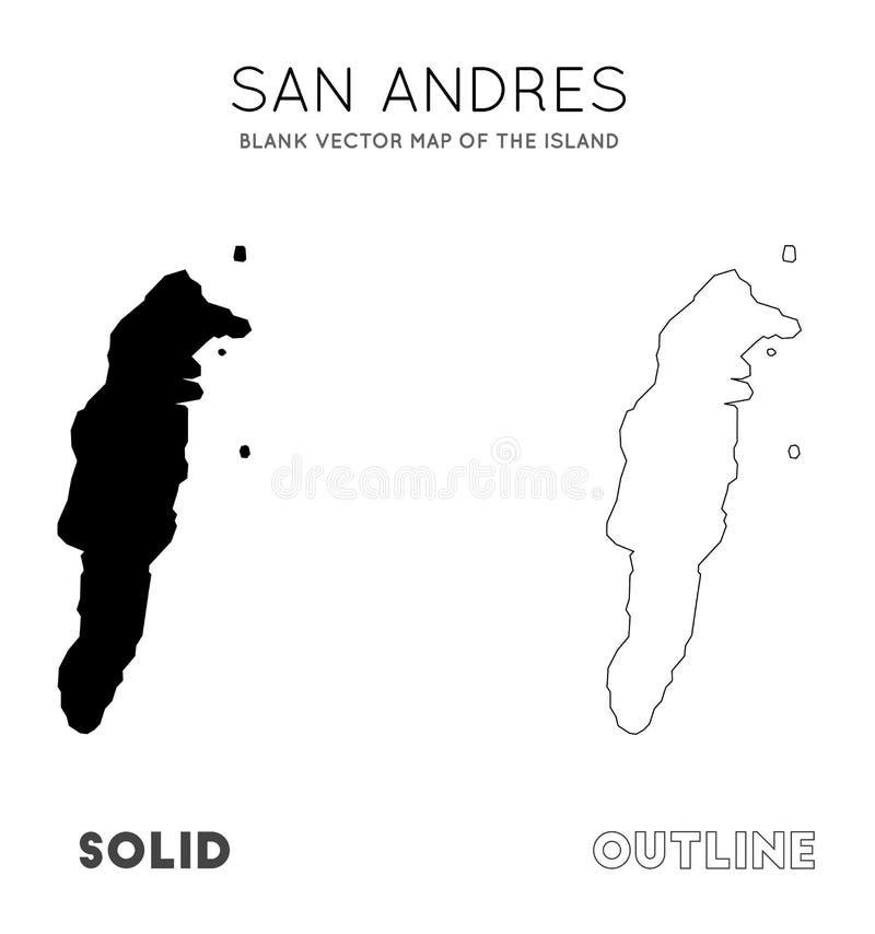 Mapa de San Andres stock de ilustración