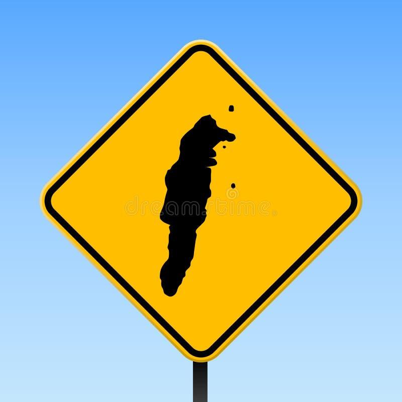 Mapa de San Andres en señal de tráfico ilustración del vector