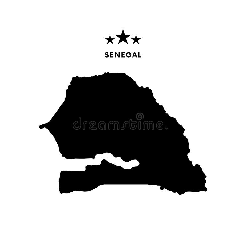 Mapa de Senegal Ilustração do vetor ilustração do vetor