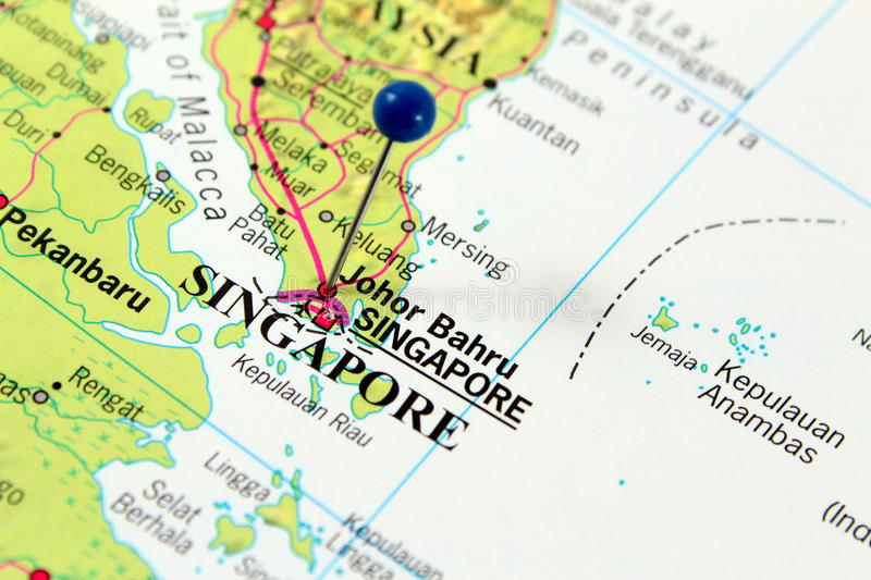 Mapa de Singapore fotos de stock