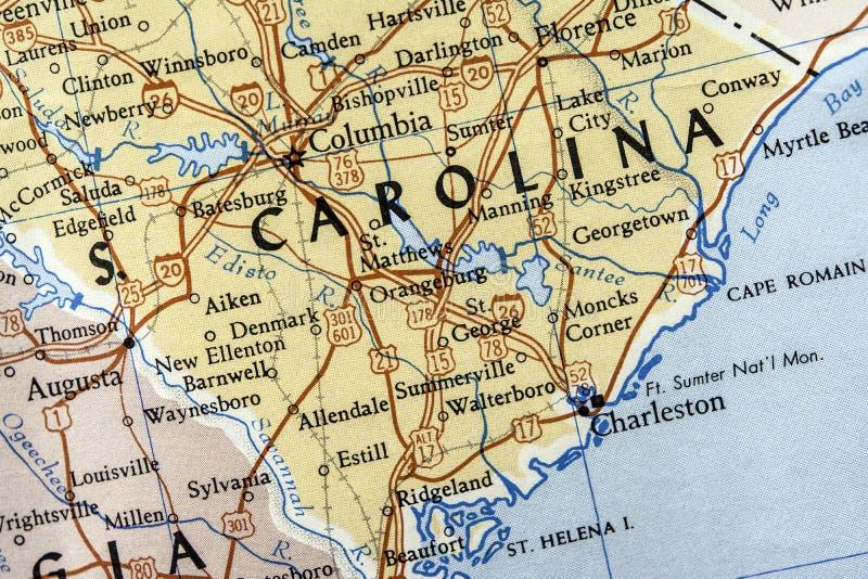 Mapa de South Carolina fotografia de stock