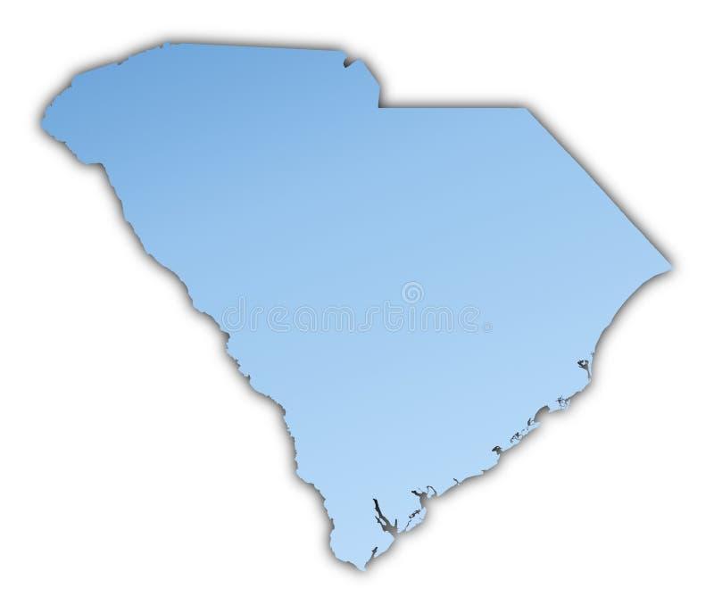 Mapa de South Carolina (EUA) ilustração stock