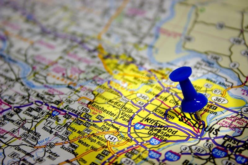Mapa de St Louis Missouri imagens de stock royalty free