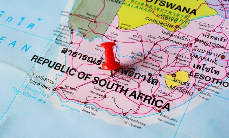 Mapa de Suráfrica imágenes de archivo libres de regalías