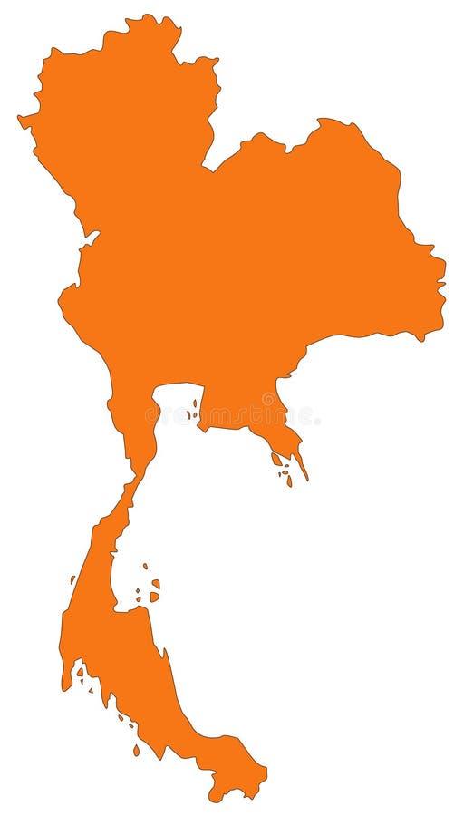 Mapa de Tailandia - el Reino de Tailandia o Tailandia ilustración del vector