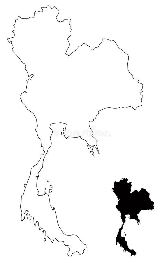 Mapa de Tailandia - el Reino de Tailandia o Tailandia stock de ilustración