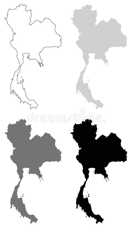Mapa de Tailandia - el Reino de Tailandia o Tailandia libre illustration