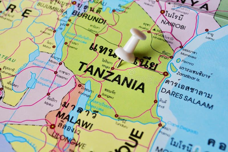Mapa de Tanzânia foto de stock