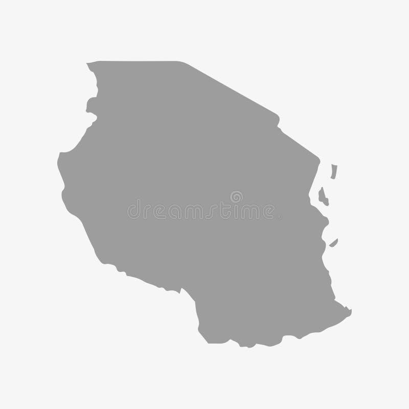 Mapa de Tanzania en gris en un fondo blanco libre illustration