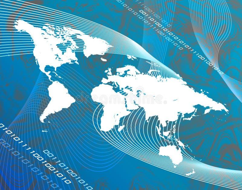Mapa de Techno ilustração do vetor