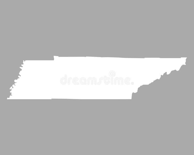 Mapa de Tennessee ilustración del vector