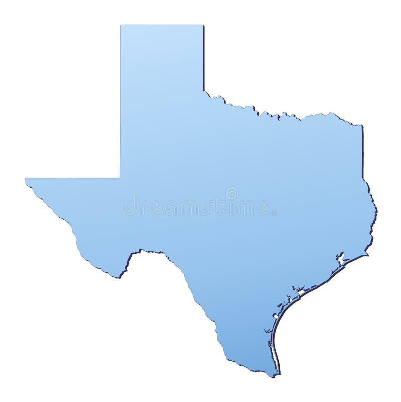 Mapa de Texas ilustração do vetor