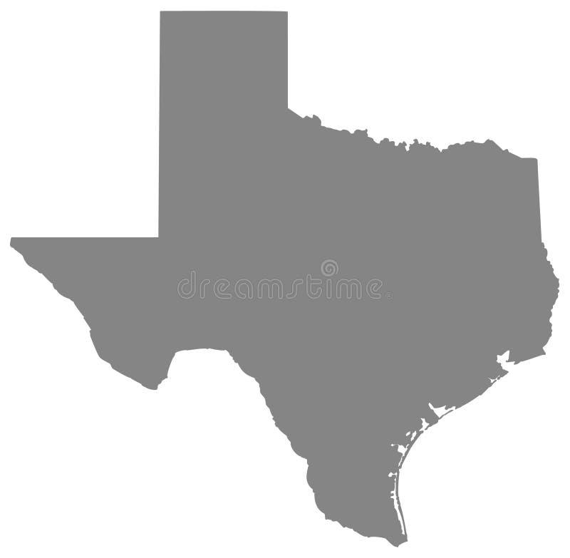 Mapa de Texas - o segundo - o estado o maior no Estados Unidos ilustração royalty free