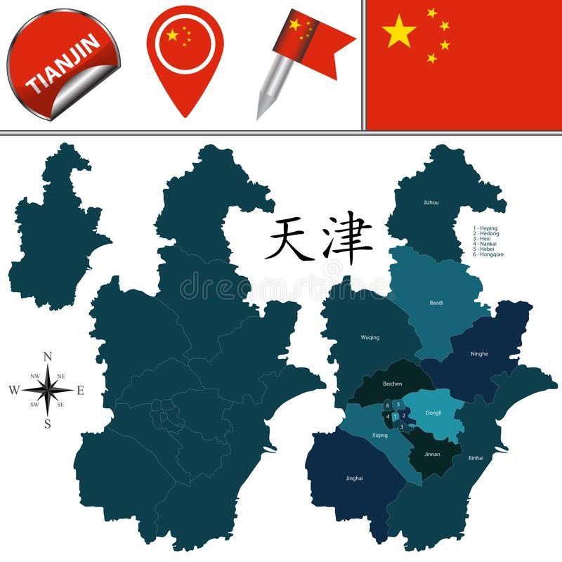 Mapa de tianjin con divisiones ilustracin del vector ilustracin download mapa de tianjin con divisiones ilustracin del vector ilustracin de china tianjin gumiabroncs Choice Image