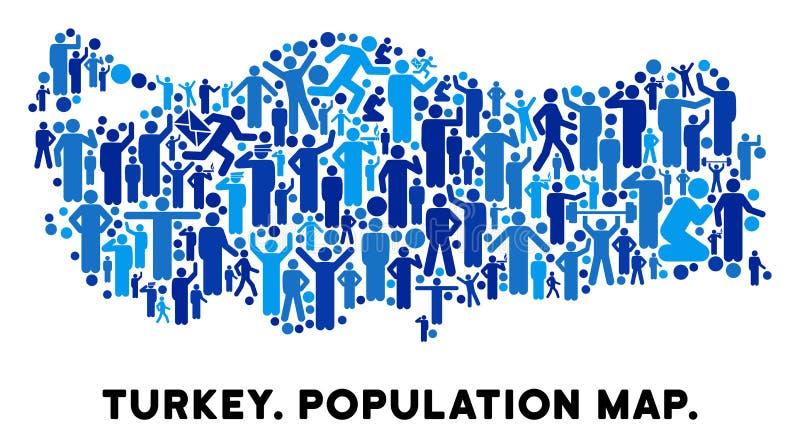 Mapa de Turquía del Demographics ilustración del vector