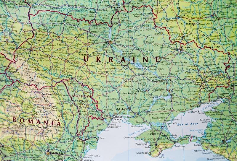 Mapa de Ucrania con Crimea imagenes de archivo