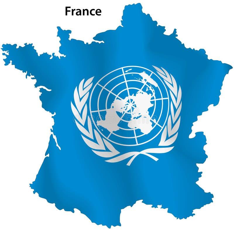 Mapa de United Nations de France ilustração royalty free
