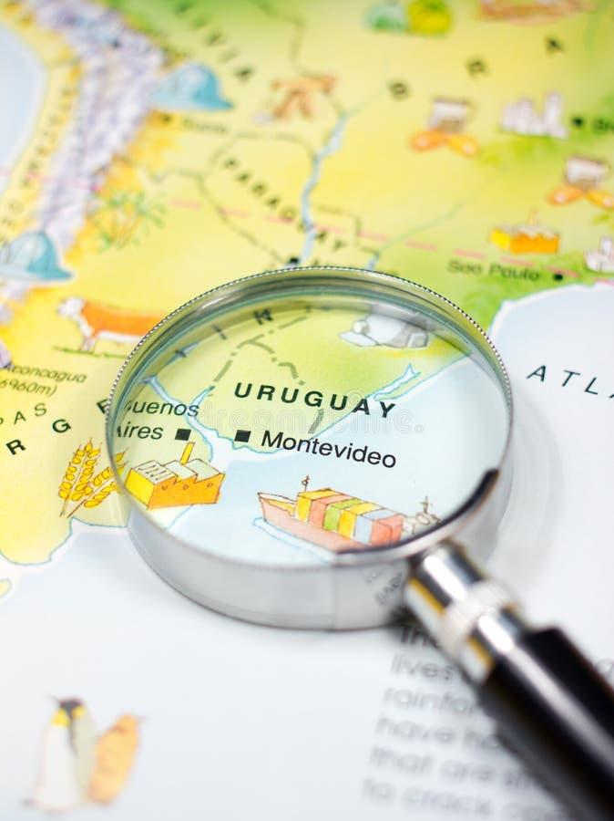 Mapa de Uruguai fotografia de stock royalty free