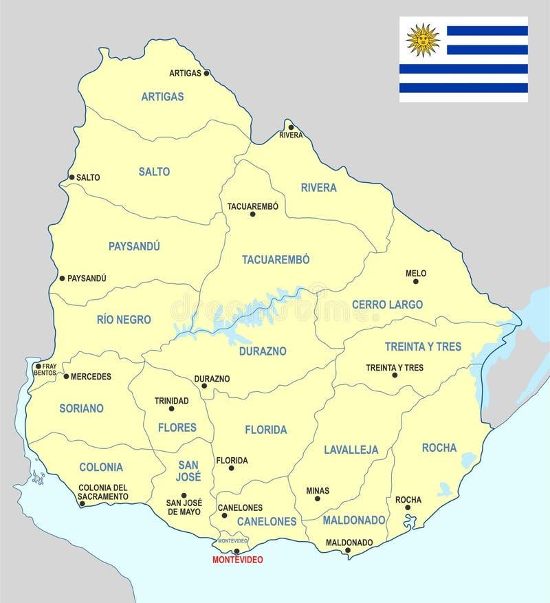 uruguai mapa Mapa de Uruguai ilustração do vetor. Ilustração de rivera   92166588 uruguai mapa