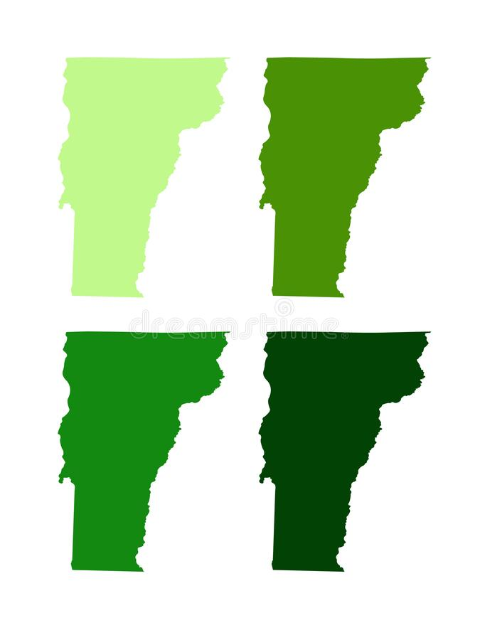 Mapa de Vermont - estado en la regi?n de Nueva Inglaterra de los Estados Unidos del noreste fotos de archivo
