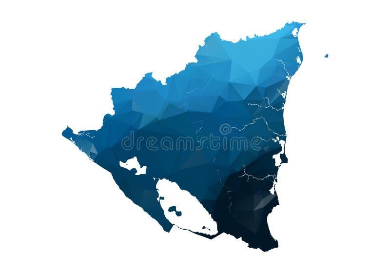 Mapa de Vetores - Triangular Azul Geométrico Voltado Mapa baixo de pólis do Afeganistão mapa de contorno/forma isolado em fundo b ilustração royalty free