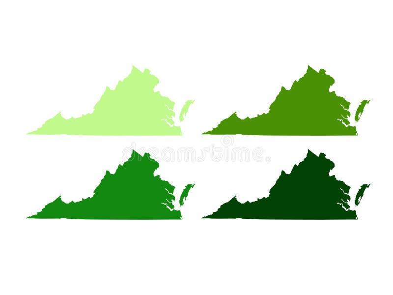 Mapa de Virginia - la Commonwealth de Virginia foto de archivo libre de regalías