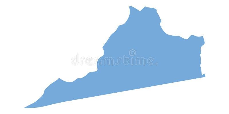 Mapa de Virginia State ilustração stock