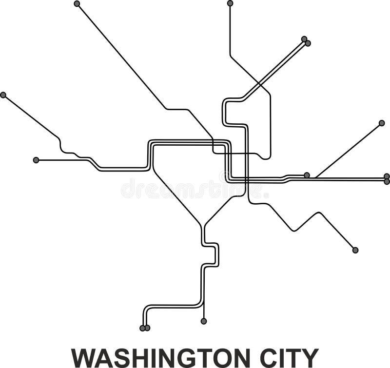 Mapa de Washington City ilustração stock