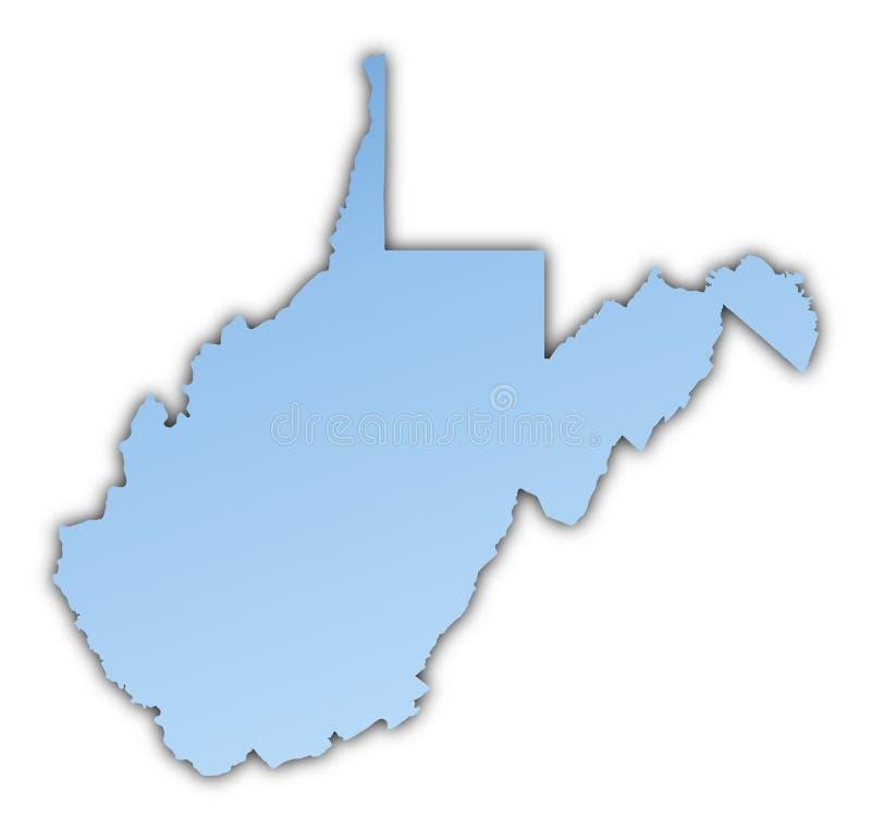 Mapa de West Virginia (EUA) ilustração do vetor