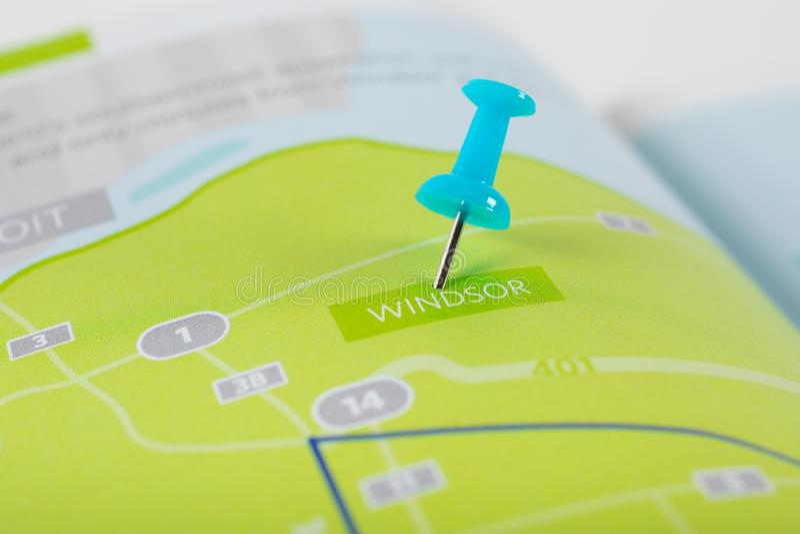 Mapa de Windsor Ontario Canada foto de stock royalty free