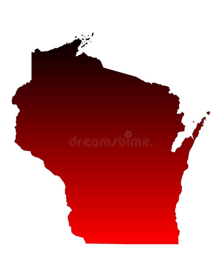 Mapa de Wisconsin libre illustration