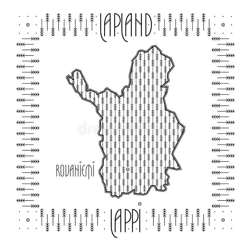 Mapa decorativo de Laponia libre illustration