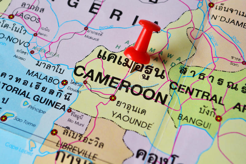 Mapa del Camerún foto de archivo libre de regalías