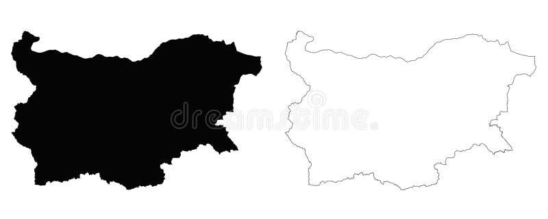 Mapa del esquema de Bulgaria ilustración del vector