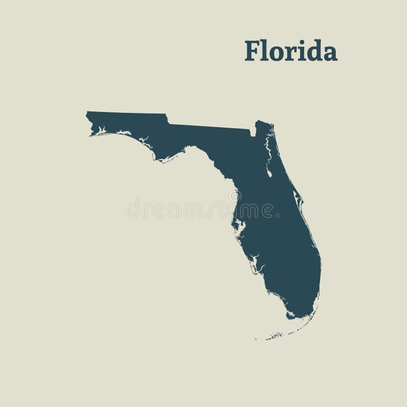 Mapa del esquema de la Florida Ilustración libre illustration