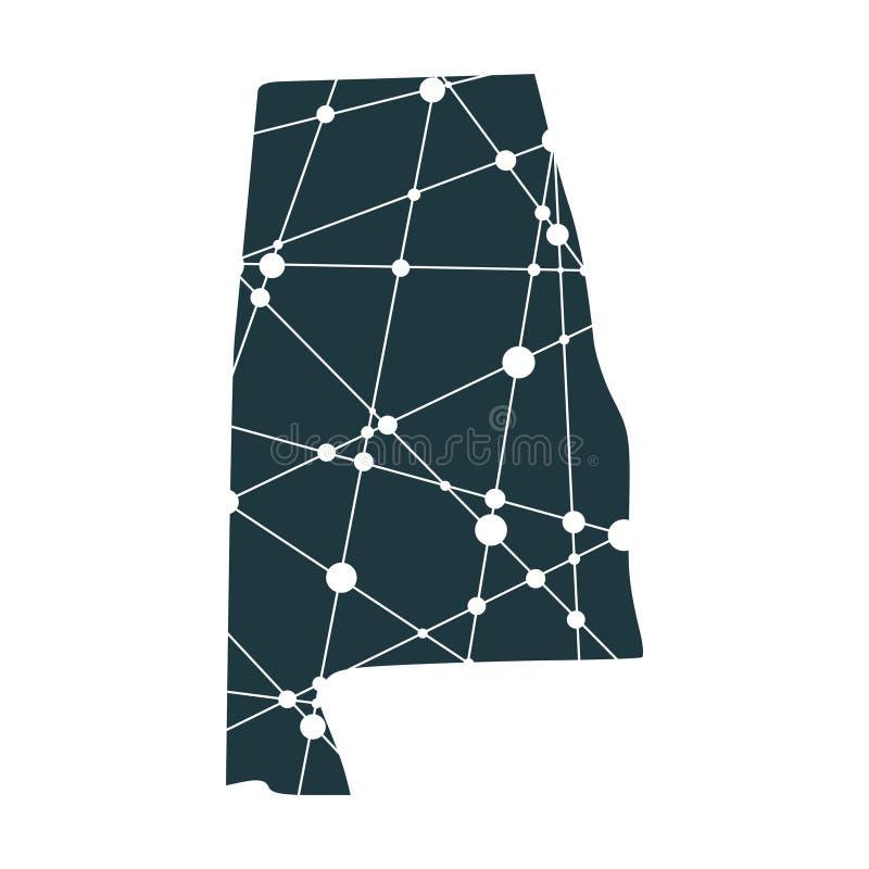 Mapa del estado de Alabama libre illustration