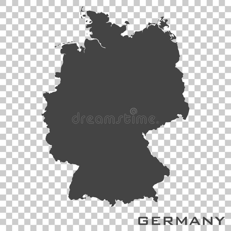 Mapa del icono del vector de Alemania en fondo transparente ilustración del vector