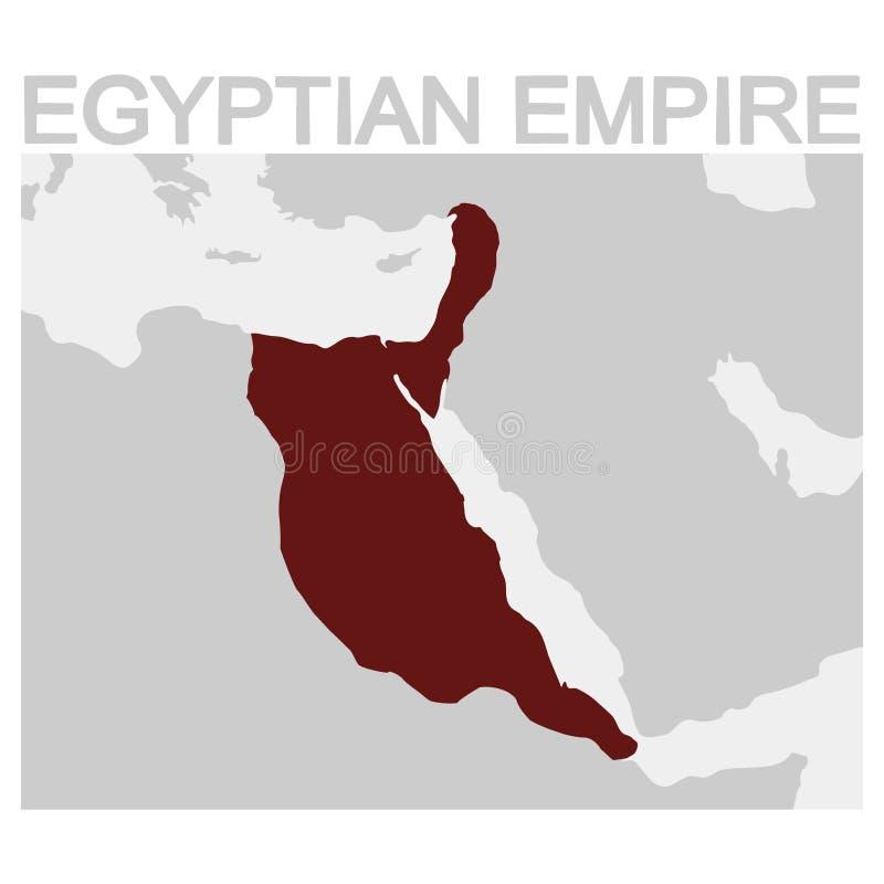 mapa del imperio egipcio stock de ilustración