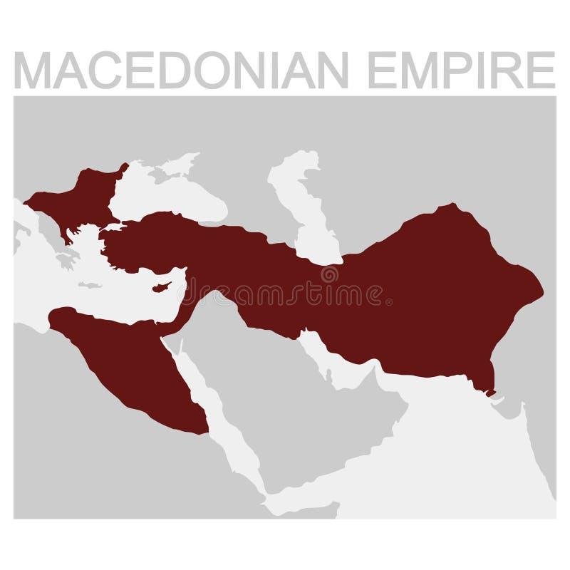 mapa del imperio macedónico libre illustration