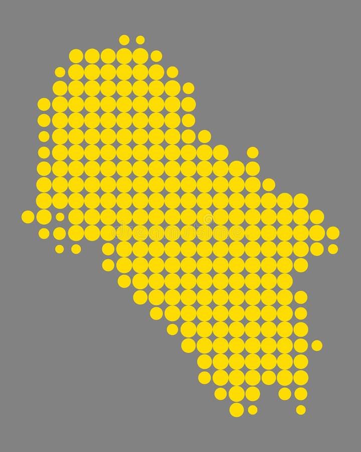 Mapa del IOS stock de ilustración