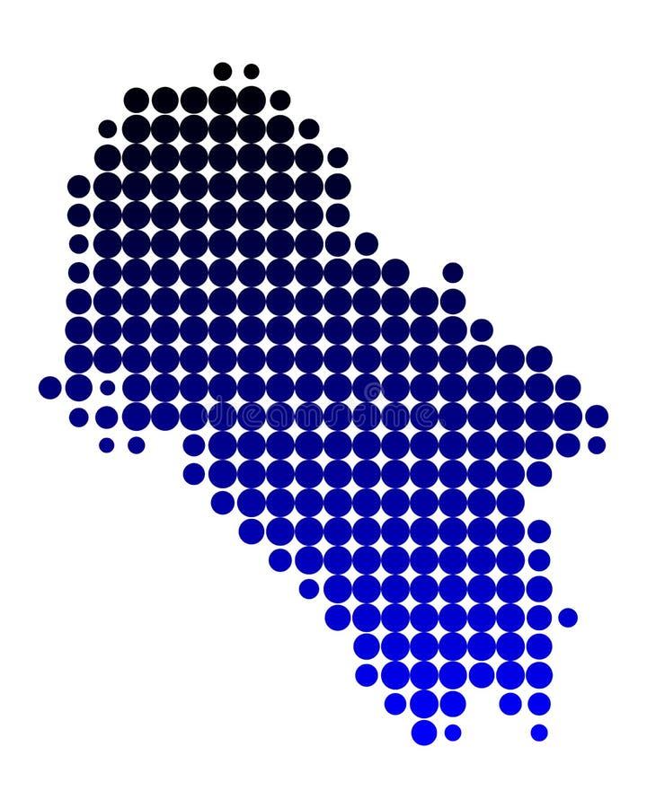 Mapa del IOS ilustración del vector