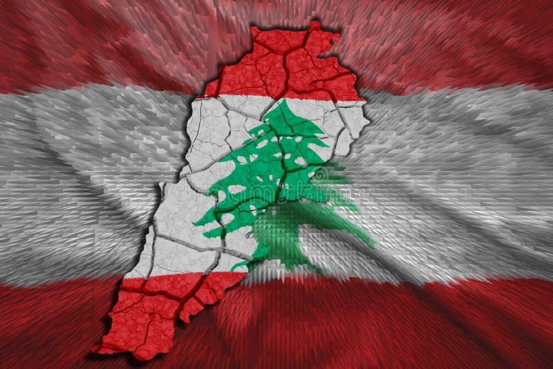 Mapa del libanés stock de ilustración