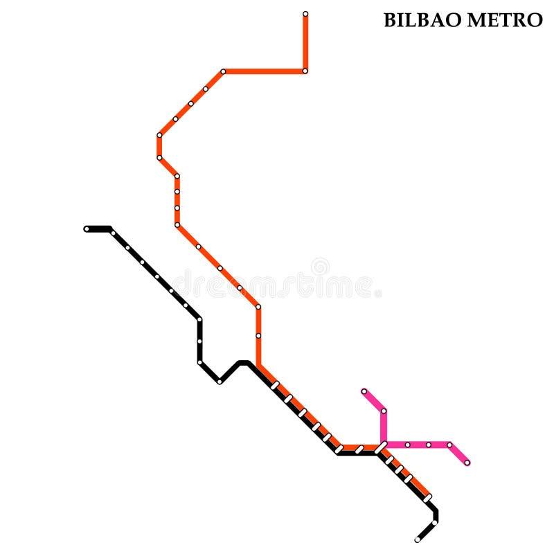 Mapa del metro, subterráneo ilustración del vector