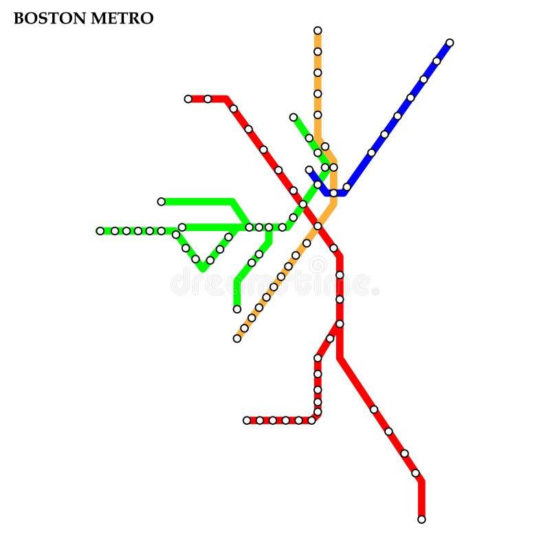 Mapa del metro, subterráneo libre illustration