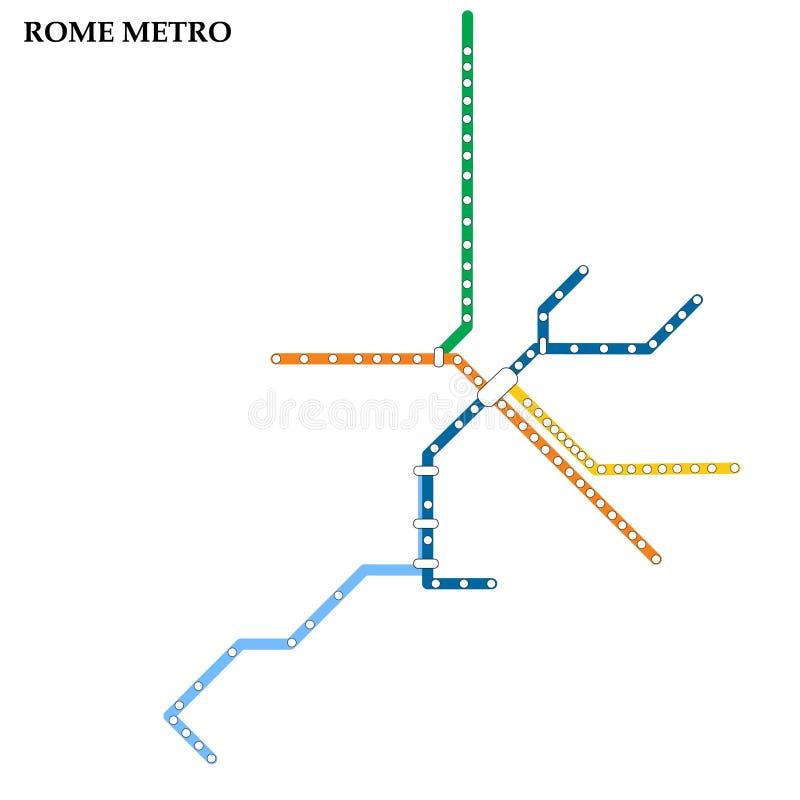 Mapa del metro, subterráneo stock de ilustración