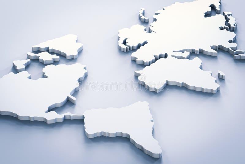 Mapa del mundo blanco imagenes de archivo
